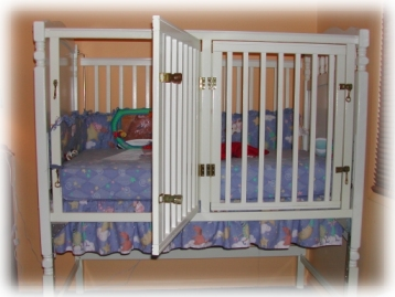 Accessible Crib with door open